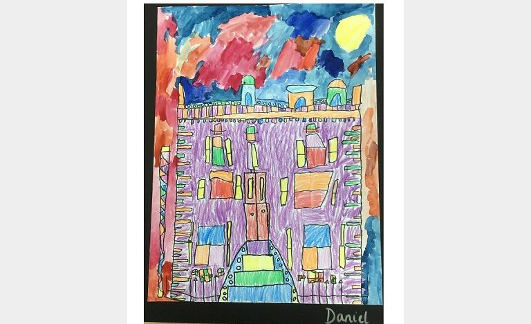Painting by Wetherby School pupil